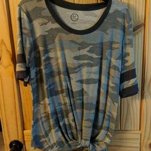 Blue camo shirt